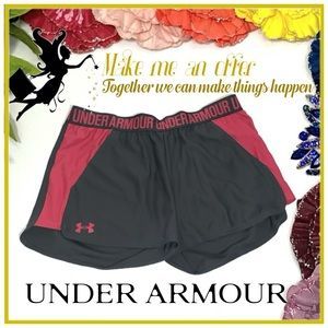 Under Armour Pink and Gray Shorts